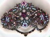 multi coloured crystal barrette